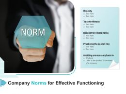 Company Norms For Effective Functioning