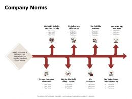 Company Norms Obsessed Beliefs Attitudes Ppt Powerpoint Presentation Designs Download