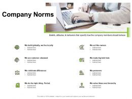 Company Norms Value Ideas Hierarchy Ppt Powerpoint Presentation Pictures Example