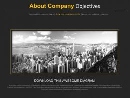 Company Objectives About Us Representation Powerpoint Slides