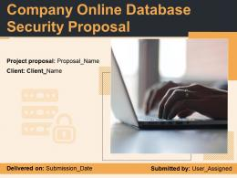 Company Online Database Security Proposal Powerpoint Presentation Slides