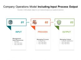 Company Operations Model Including Input Process Output