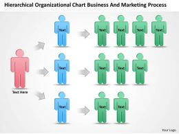 Company Organization Chart Organizational Business And Marketing Process Powerpoint Templates 0515
