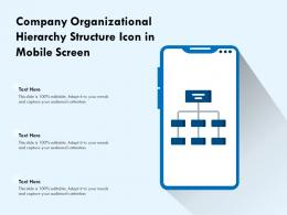 Company Organizational Hierarchy Structure Icon In Mobile Screen