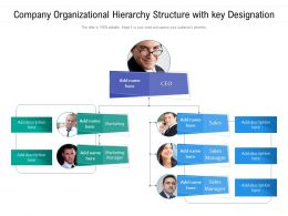 Company Organizational Hierarchy Structure With Key Designation