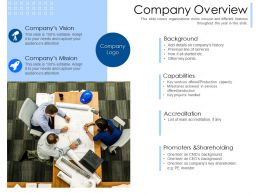 Company Overview Accreditation M2409 Ppt Powerpoint Presentation Show Gridlines