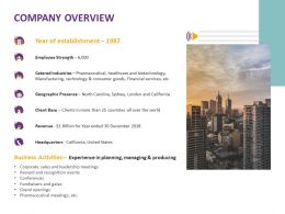Company Overview Activities Ppt Powerpoint Presentation Infographic Template Files