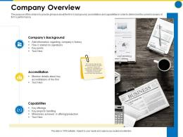 Company Overview Business Manual Ppt Powerpoint Presentation Infographics Slideshow