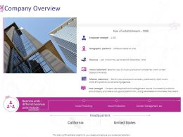Company Overview Business Ppt Powerpoint Presentation Layouts Portrait