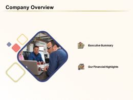 Company Overview Financial Highlights Ppt Powerpoint Presentation Pictures