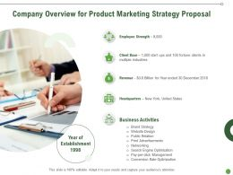 Company Overview For Product Marketing Strategy Proposal Ppt Slides Introduction