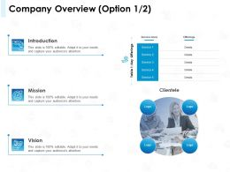 Company Overview Option Introduction Ppt Powerpoint Presentation Files