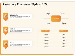 Company Overview Option Introduction Vision Ppt Powerpoint Presentation Background
