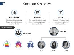 Company Overview Ppt File Background