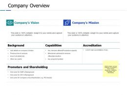 Company Overview Ppt Powerpoint Presentation Gallery Diagrams