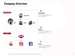 Company Overview Ppt Powerpoint Presentation Gallery Portfolio