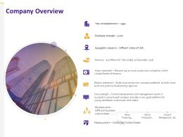 Company Overview Ppt Powerpoint Presentation Styles Diagrams