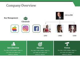 Company Overview Ppt Styles Portfolio