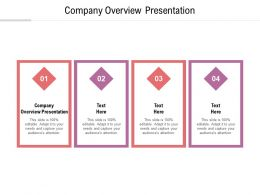Company Overview Presentation Ppt Powerpoint Presentation Gallery Outfit Cpb