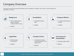 Company Overview Requirements M969 Ppt Powerpoint Presentation Infographic Template Infographic Template