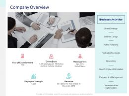 Company Overview Revenue Ppt Powerpoint Presentation Show Visual Aids