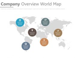 Company Overview World Map Ppt Slides