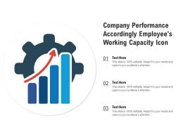 Company Performance Accordingly Employees Working Capacity Icon