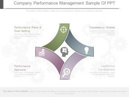 Company Performance Management Sample Of Ppt