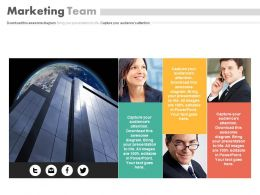 Company Picture With Marketing Team Powerpoint Slides