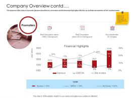 Company Playbook Company Overview Contd Ppt Powerpoint Presentation Summary Show