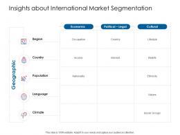 Company Playbook Insights About International Market Segmentation Ppt Powerpoint Presentation Layouts
