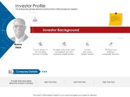 Company Playbook Investor Profile Ppt Powerpoint Presentation Layouts Aids