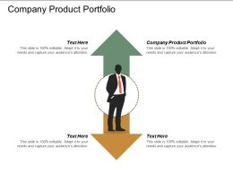 Company Product Portfolio Ppt Powerpoint Presentation Professional Maker Cpb