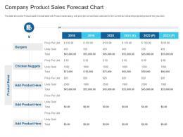 Company Product Sales Forecast Chart Raise Debt Capital Commercial Finance Companies Ppt Elements