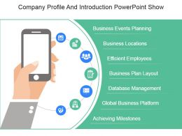 Company Profile And Introduction Powerpoint Show