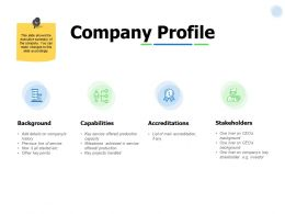 Company Profile Capabilities Ppt Powerpoint Presentation Portfolio Summary