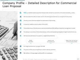 Company Profile Detailed Description For Commercial Loan Proposal Ppt Portfolio Format