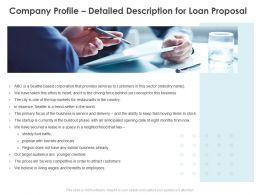Company Profile Detailed Description For Loan Proposal Ppt Powerpoint Outline