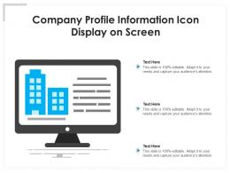 Company Profile Information Icon Display On Screen