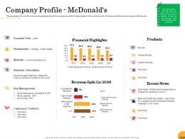 Company Profile Mcdonalds Food Startup Business Ppt Powerpoint Presentation Infographic
