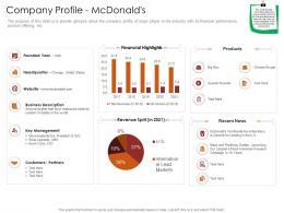 Company Profile Mcdonalds Restaurant Business Plan Ppt Portfolio Inspiration