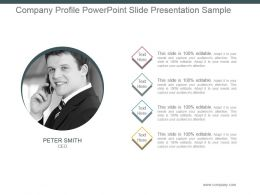 Company Profile Powerpoint Slide Presentation Sample