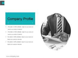 Company Profile Ppt Background Designs