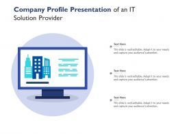Company Profile Presentation Of An IT Solution Provider