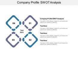 Company Profile Swot Analysis Ppt Powerpoint Presentation Professional Objects Cpb