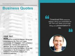 Company Profile With Business Quotes Powerpoint Slides