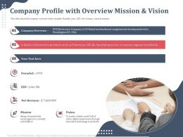 Company Profile With Overview Mission Net Revenue Ppt Presentation Slides