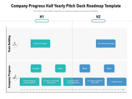 Company Progress Half Yearly Pitch Deck Roadmap Template