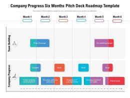 Company Progress Six Months Pitch Deck Roadmap Template
