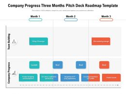 Company Progress Three Months Pitch Deck Roadmap Template